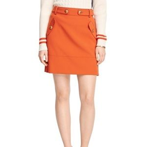 Brooks Brothers RF rustic orange pencil skirt